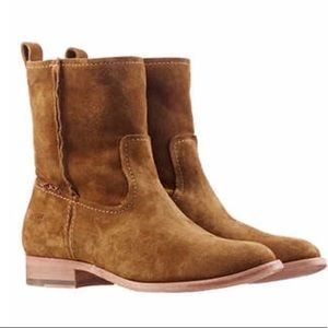 Frye Cara Short Suede Slouchy Boots NEW Sz 6.5